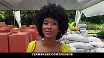 Ebony Latina Gets Her Hairy Pussy Fucked