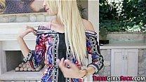 Blonde cute cocksucker shows her skills Thumbnail