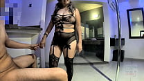 Pam Hotwife black lingerie fucking infront his ...