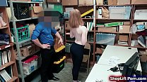 Teen brunette is arrested by LP officer for ste...