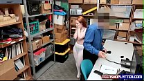 British Teen Cornered In Back Office And Fucked