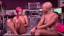 Ebony lesbians dominate each other