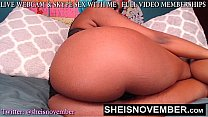 HD African American Web Cam Girl Fucking Her Ow...
