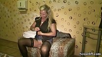 Watch German Mom Catch Huge Dick StepSon with his 18yr old girlfriend and teach the couple to Fuck in Threesome preview