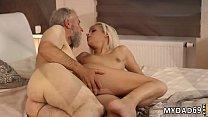 Hot milf teaches blonde her ways  lesbian domin...