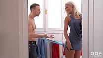 Leggy Blonde Babe Nicole Vice Banged On Kitchen Countertop