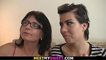 Mature couple and teen threesome orgy