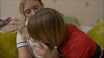Beautiful lesbian blonde teen Irena and Blake p...