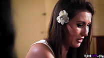 Old friends Mia Moore and Paige Owens getting n...