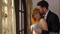 Husband Seth Gamble has foreplay with his sexy ...