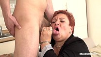 Horny old granny loves hard pounding from young stud Thumbnail