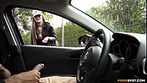 Stroking and cumming in car for beautiful girl صورة