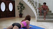Beautiful teen Mady O'Reilly teases in her yoga shorts's Thumb