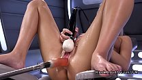 Blonde squirter fucking machine صورة