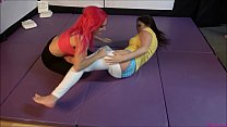 Tag-Team Bra & Panties match (Strip Wrestling) with Diaper! Thumbnail