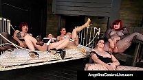 4 Way Lesbian Hitachi Party - Angelina Castro, Sexy Vanessa, Virgo Peridot and Maggie Green! Thumbnail