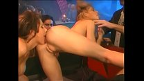 Playful blonde and hot brunette plays in lesbia...