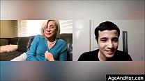 Skype sex between grandma and grandson