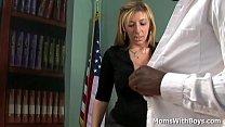 Blonde mature lady boss Sara Jay in fucking int...