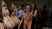 Hot slave Roxanne Rae and three her friends in ...