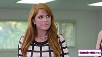 Penny Pax joins her lesbian employees licking p...