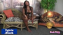 Watch Busty black trans babe twerking and tugging preview