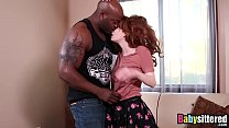 Young redhead babysitter drilled by BBC's Thumb