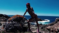 Compilation - Slutty naturalist Sasha Bikeyeva on world beaches. European Tourist show Thumbnail