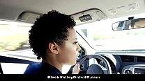 Ebony Teen Blows And Bangs Driving Examiner For...