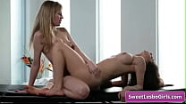 See these naughty big boobed lesbo sluts finger...