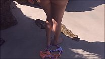 Teen wife gets naked on the beach crazy to get ...