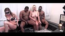 Hot busty blonde MILFs blowing hard cocks in sw...