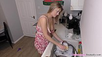 Hot blonde chick housewife with excellent set o...