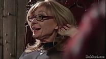 Blonde mature lezdom Nina Hartley in sheer full...