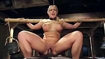 Big boobs blonde MILF trainee Angel Allwood is ...