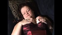 BBW Slut Gives Pierced Cock Blowjob and Foot job With Cum On Feet Thumbnail
