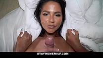 Big Tits Big Ass Latina MILF Stepmom Family Sex...