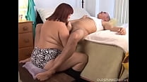 Beautiful beefy old spunker gives a sexy sloppy...
