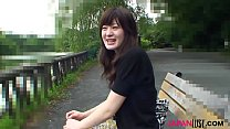 Horny brunette Japan teen Aki Tajima with nice ...