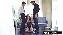 Watch Redhead wife invites her husbands friend over for_a threesome preview
