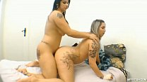 Unforgettable tribadism with two hot Brazilian girls - What could be better than a lesbian scissoring with the best friend?'s Thumb