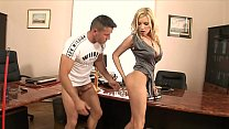 Watch Gorgeous blonde secretary Donna Bell with big melons tempts chizzled service premises scavenger preview