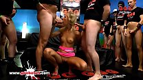 Watch Super hot babe Jenny Smart gets cum covered in her favorite cum arena! German Goo Girls preview