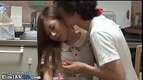 Jav hot babe gets cumshot on her beautiful tits