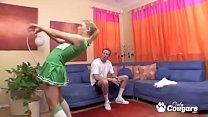 Blonde Cheerleader Has Sex Like The Big Girls
