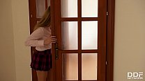 Double penetration makes college babe Lucy Heart scream & cream to the extreme's Thumb