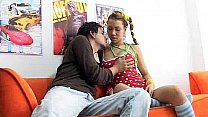 Big tit girl from Colombia Serena 18 fucking he...
