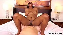 Beautiful Ebony MILF Taking White Cock In the A...