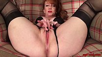 Watch Big tit British mature fucks herself with dildos until she orgasms preview