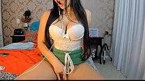 Sexy Latina girlfriend on skype call webcam str...